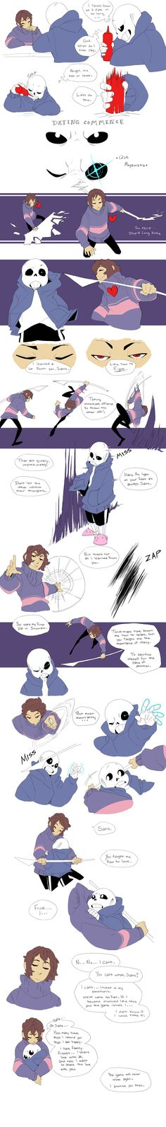 Fight - Undertale by Adzze on DeviantArt - I don't ship them in normal undertale, but this is cute