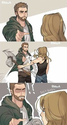 "From trailer I call it ""thor & carol lost scene"" by Yoru Akira on twitt… - Marvel - Game of Thrones Funny Marvel Memes, Marvel Jokes, Dc Memes, Marvel Dc Comics, Marvel Heroes, Marvel Avengers, Marvel Universe, Tom Holland, Fandoms"