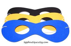 Superhero+Foam+Masks+Party+Pack+8+ASSORTED+PACK+by+kppboutique,+$10.00