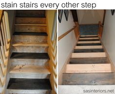 Carpet To Wood Stairs (painted)