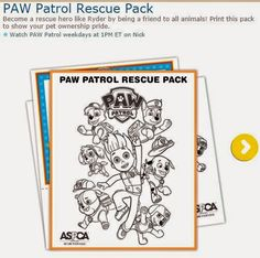 Paw Patrol Free Printable Coloring Pages. Paw Patrol Rescue, Paw Patrol Party, Free Poster Printables, Free Printable Coloring Pages, Paw Patrol Coloring Pages, Oh My Fiesta, Party Activities, Blogger Templates, Colouring Pages