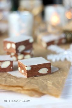 Chocolate Almond Nougat