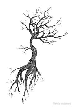 sketch tattoo tree roots - sketch tattoo tree & sketch tattoo tree of life & sketch tattoo tree roots & palm tree tattoo sketch & tree tattoo drawing sketch & pine tree tattoo sketch & trees tattoo sketch & tree tattoo sketch style Dead Tree Tattoo, Tree Tattoo Side, Tree Sleeve Tattoo, Pine Tree Tattoo, Sleeve Tattoos, Tree Sketches, Tattoo Sketches, Tattoo Drawings, Tree With Roots Drawing