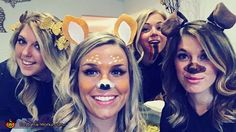 Andrea: Andrea as the butterfly filter, Megan as the deer filter, Brooke as the rainbow filter, and Rachel as the dog filter. I came up with the idea after seeing a...