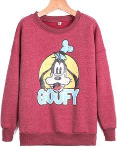 Shop Red Long Sleeve GOUFY Dog Print Sweatshirt online. Sheinside offers Red Long Sleeve GOUFY Dog Print Sweatshirt & more to fit your fashionable needs. Free Shipping Worldwide!
