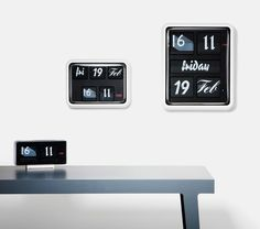 Font Clock by Established & Sons: Modern take on the British 24 hour flip clock