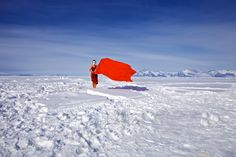 GALYA MORRELL IN GREENLAND, LIVING ON THE ICE.