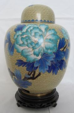 "9 1/2"" Beijing Cloisonne Cremation Urn China Golden with Blue Floral and Bird Design (BCURC2920-001) by bluRAFIA, http://www.amazon.com/dp/B0041F0HGC/ref=cm_sw_r_pi_dp_K2pIpb0GQ1N1C"