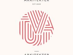 Tuvalu Arkitekter designed by Henning Gjerde for Notch. Connect with them on Dribbble; Best Logo Design, Graphic Design Branding, Identity Design, Typography Logo, Logo Branding, Construction Business Cards, Path Logo, Hope Logo, Geometric Logo