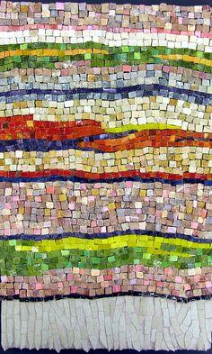 Random Striped Carpet | by Marian Shapiro - Mosaics