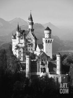Neuschwanstein Castle, Fussen Bavaria, South Germany Photographic Print