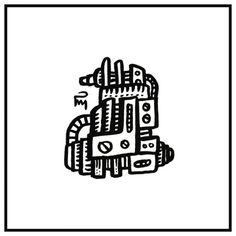 d00dl3_dr0n3_15201013 #drone #robot #mechanical #art #artwork #ink #brush #pentel #black #doodle #draw #drawing #illustration #illustrator #dessin #sketch #handmade #graphic #pm_art #pascalmabille