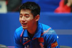 Zhang Jike of China watches the LIEBHERR table tennis team world cup 2012…