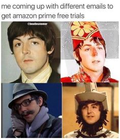 the four faces of Paul!