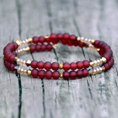 ba64664e65a5 Red Holiday Sparkle Dainty Wrap Bracelet
