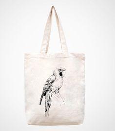 birdCanvas Bag Tote Bag Bag Shopping Bag Market Bag by canvasanni, $11.90