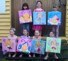 8 year old art party idea | Girls 9th Birthday Party