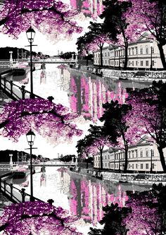 Aurajoki, pink by Riina Kuikka