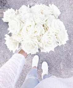 white roses please