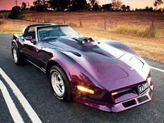 Custom Corvette - and it's purple
