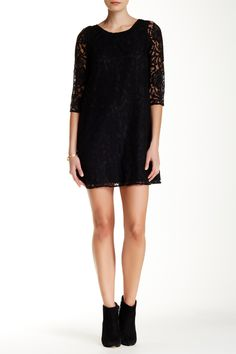 McKale 3/4 Length Sleeve Lace Shift Dress by Jack on @nordstrom_rack