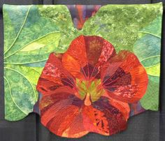 Alaska Nasturtium by Janet Rice-Bredin, quilted by Catherine Sloan.  Judge's Choice Award, 2014 National Juried Show 2014 ~ Canadian Quilters' Association
