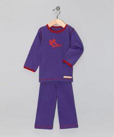Purple Bird Organic Tee & Yoga Pants - Infant & Toddler #zulily #zulilyfinds