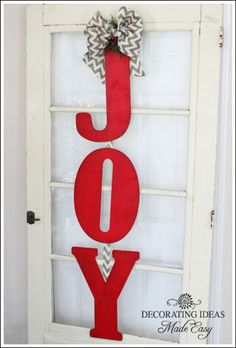 Here is a cheap Christmas decorating idea!
