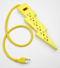 Lightning bolt power strip -- add a little POW to your office.