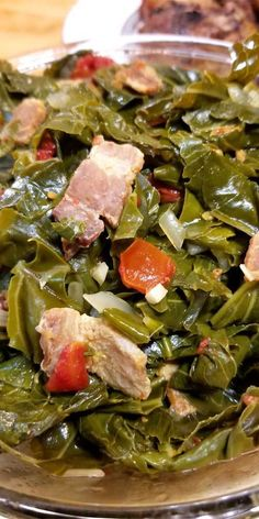 If you like greens, you're gonna LOVE this recipe for Jamaican Style Greens. Absolutely delicious, and will definitely be a staple in our household! Jamaican Cuisine, Jamaican Dishes, Carribean Food, Caribbean Recipes, Jamican Recipes, Jamacian Food, Greens Recipe, Collard Greens Casserole Recipe, Island Food