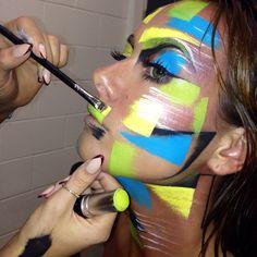Creating the look... By @nikki striefler striefler striefler Make-Up