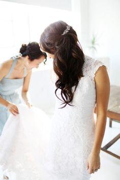 Gorgeous bridal hair style. #wedding #zappos