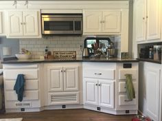 We wanted to share some before and after photos of our RV remodel.