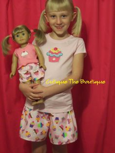 Girl & 18 doll like American Girl match me by cutiquetheboutique, $30.00