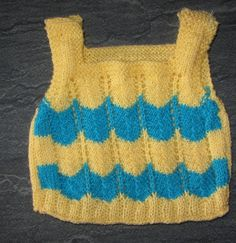 knitted vest for baby