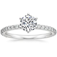 18K White Gold Luxe Petite Shared Prong Diamond Ring (1/3 ct. tw.) from Brilliant Earth