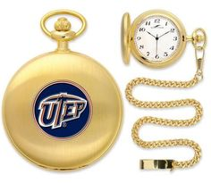 UTEP Miners Pocket Watch
