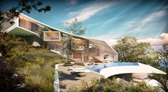 Image © SAOTA The brief was to maximise on the views of the Madeira coastline framing the sweeping slopes overlooking the sea. Image © SAOTA Site This fami