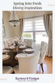 Brightening your Tuesday night with some beautiful dining room inspiration from . Brightening your Dining Room Table Decor, Dining Room Colors, Dining Room Design, Dining Room Furniture, Room Decor, Kitchen With Dining Room, Dinning Room Curtains, Dinning Room Ideas, Circle Dining Table