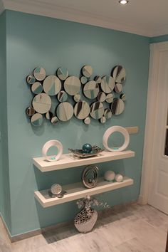 8 Blindsiding Useful Ideas: Floating Shelf Arrangement Apartment Therapy black floating shelves diy.Rustic Floating Shelves Wood floating shelves living room next to tv. Floating Shelves Bedroom, Floating Shelves Kitchen, Rustic Floating Shelves, Wc Decoration, Shelves Around Tv, Entryway Decor, Wall Decor, Wall Art, Shelf Arrangement