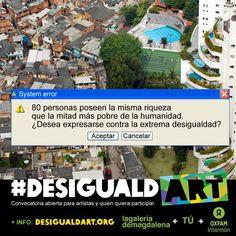 El arte puede cambiar las cosas. ¡Únete a #Desigualdart, hay premios llenos de ganas de crear un mundo mejor!