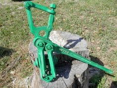 #Antique Dillon Double Cog Wheel Pulley  Fence Stretcher Tool #Rustic #Decor #MANUAL #DILLON