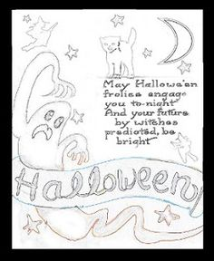 Follow The Moon Art Crafts Halloween Adult Childrens Coloring Page