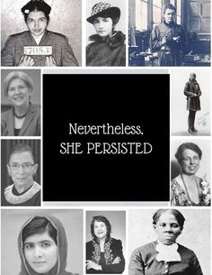 #NeverthelessShePersisted