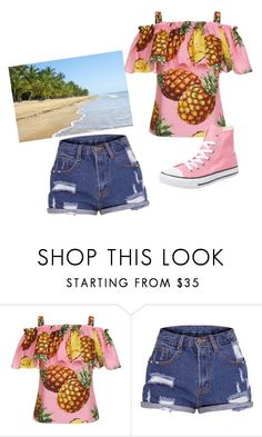 """""""pink hawaiian summer"""" by edcdancer4life ❤ liked on Polyvore featuring Dolce&Gabbana and Converse"""