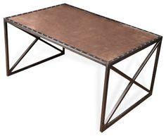 Gispen Промышленные Loft Кожа Утюг Прямоугольный Журнальный столик переходно-кофе-столы