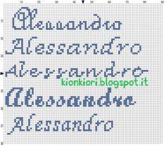 KIONKIORI Punto Croce: qualche nome in più... Alessandro,Federico e Sofia