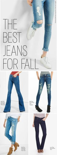 Start the season off right by stocking your closet with fall's must-have denim styles. The flare: This ultra-flattering, leg-lengthening style is a must for boho babes. Distressed skinnies: Add some edge to your look with distressed details. Passion For Fashion, Love Fashion, Womens Fashion, Fall Winter Outfits, Autumn Winter Fashion, Fall Fashion, Casual Outfits, Cute Outfits, Fashion Outfits