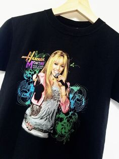 c1020601 Disney 07' Hanna Montana Best of Both Worlds Concert T-Shirt Youth Med Lot