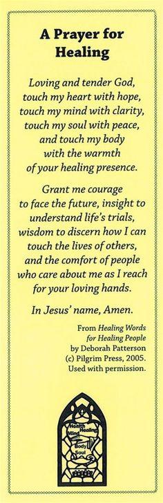 A Prayer for Healing Bookmark – Church Health Center Store